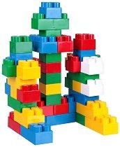 Детски конструктор - Форми и животни - Комплект от 44 части и стикери -