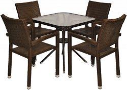 Комплект градински мебели - 98-4125А - Имитация на ратан