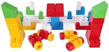 Детски конструктор - Maxi Block - Комплект от 53 части и стикери -