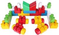 Детски конструктор - Maxi Block - Комплект от 33 части и стикери -