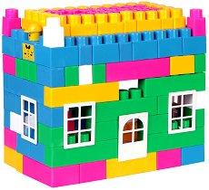 Детски конструктор - Maxi Block - Комплект от 117 части и стикери - играчка