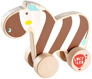 Зебра - Дървена играчка за бутане -
