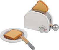 Тостер с аксесоари - Дървен комплект за игра -
