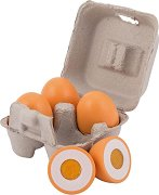 Яйца - Дървен комплект за игра -