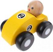 Състезателна количка - Дървена играчка -