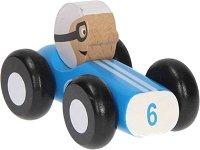 Състезателна кола - Дървена играчка -