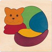 Коте - Детски дървен пъзел -