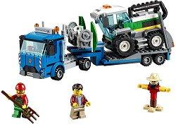 """Камион за превоз на комбайн - Детски конструктор от серията """"LEGO: City"""" -"""