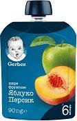 Nestle Gerber - Пауч ябълка и праскова - пюре