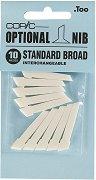 """Резервен писец за маркер - Standart Broad - Комплект от 10 броя от серията """"Classic"""""""
