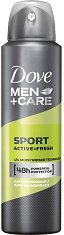 """Dove Men+Care Sport Active+Fresh Anti-perspirant - Дезодорант против изпотяване за мъже от серията """"Men+Care"""" - душ гел"""