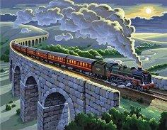 Оцветявай по номера - Пътнически влак -