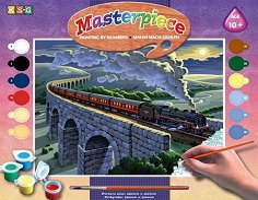 Оцветявай по номера - Пътнически влак - играчка