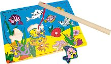 Риболов - Магнитен детски комплект за игра от дърво -