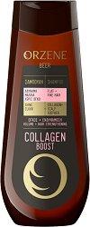 Orzene Beer Collagen Boost Shampoo Flat + Fine Hair - Заздравяващ шампоан за обем за тънка коса - шампоан