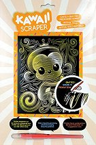 """Създай сам златиста гравюра - Маймунка - Творчески комплект от серията """"Kawaii Scraper"""" -"""