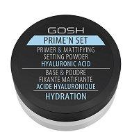 Gosh Prime'n Set Primer & Mattifying Setting Powder Hydration - серум