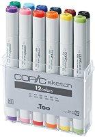 """Двувърхи маркери - Sketch - Комплект от 12 цвята от серията """"Sketch"""""""