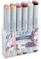 """Двувърхи маркери - Skin Tones - Комплект от 12 цвята от серията """"Sketch"""""""