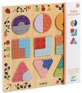 Форми и цветове - Образоветелен дървен пъзел - пъзел
