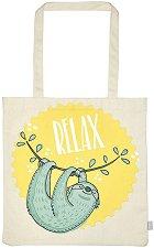 Текстилна чанта за книги - Relax -