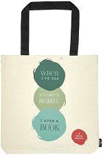 Текстилна чанта за книги - Reallity -