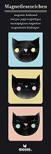Магнитни разделители за книги - Котки - Комплект от 3 броя -