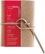 Тефтер с кожени корици - SenseBook Flap