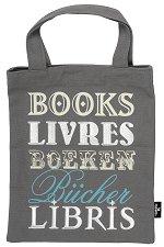 Текстилна чанта за книги - Books Livres -