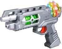 Бластер с изстрелвачка за ръка - Space Warrior - Детска играчка със звукови и светлинни ефекти - играчка