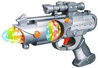 Бластер с изстрелвачка за ръка - Space Warrior - Детска играчка със звукови и светлинни ефекти -