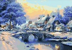 Рисуване по номера - Зимна приказка - Комплект за картина с размери 50 x 40 cm