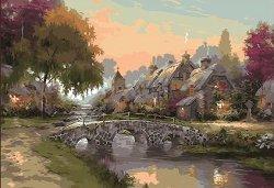 Рисуване по номера - Лятна приказка - Комплект за картина с размери 50 x 40 cm