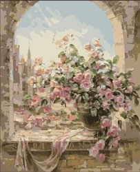Рисуване по номера - Под арката - Комплект за картина с размери 50 x 40 cm