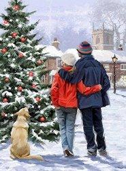 Рисуване по номера - Коледа - Комплект за картина с размери 50 x 40 cm