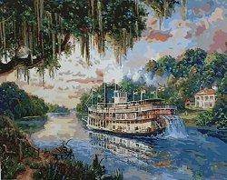 Рисуване по номера - Господарят на реката - Комплект за картина с размери 50 x 40 cm
