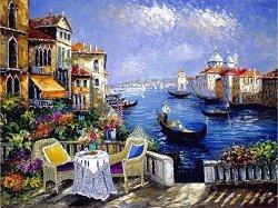 Рисуване по номера - Венецианско утро - Комплект за картина с размери 50 x 40 cm