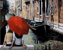 Рисуване по номера - Двама във Венеция - Комплект за картина с размери 50 x 40 cm