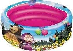 """Надуваем бебешки басейн - Маша и Мечока - С диаметър ∅ 100 cm от серията """"Маша и Мечока"""" -"""