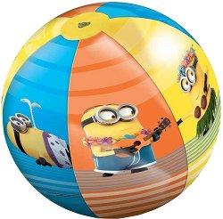 """Надуваема топка - Миньоните - С диаметър ∅ 50 cm от серията """"Аз, проклетникът"""" - топка"""