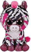 """Зебра - Zoey - Плюшена играчка с пайети от серията """"Flippables"""" - раница"""