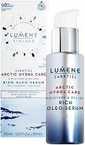 Lumene Arctic Hydra Care Moisture & Relief Rich Oleo-Serum - Хидратиращ и успокояващ олио-серум за суха и чувствителна кожа - душ гел