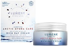Lumene Arctic Hydra Care Moisture & Relief Rich Day Cream - Хидратиращ и успокояващ дневен крем за суха и чувствителна кожа - крем