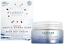 Lumene Arctic Hydra Care Moisture & Relief Rich Day Cream - Хидратиращ и успокояващ дневен крем за суха и чувствителна кожа - душ гел