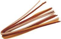 Плюшени шнурчета - екрю - Комплект от 10 броя с дължина 50 cm