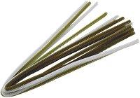 Плюшени шнурчета - тъмно зелени - Комплект от 10 броя с дължина 50 cm