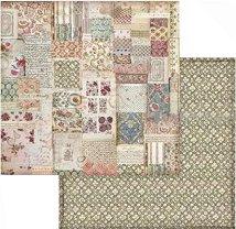 Хартии за скрапбукинг - Орнаменти и цветя - Размери 30.5 х 30.5 cm