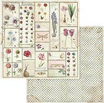 Хартии за скрапбукинг - Пролет - Размери 30.5 х 30.5 cm