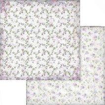 Хартии за скрапбукинг - Цветя - Размери 30.5 х 30.5 cm