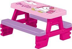 """Детска маса с две пейки - Unicorn - От серията """"Еднорог"""" - продукт"""